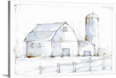 Barnyard Pencil Sketch I