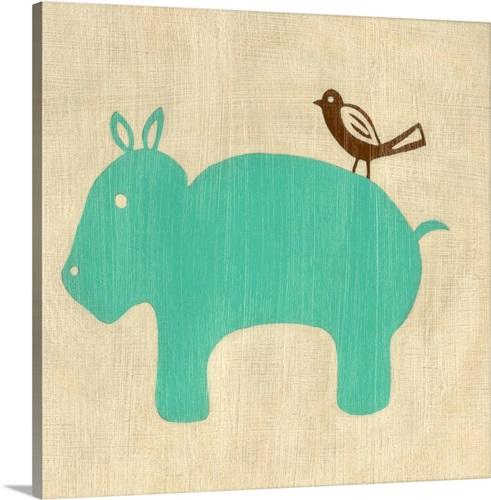 Best Friends - Hippo Wall Art, Canvas Prints, Framed Prints, Wall ...
