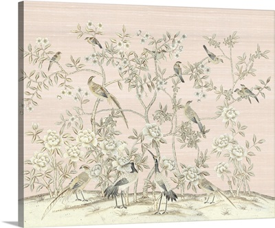 Bird Party In Pink Champagne