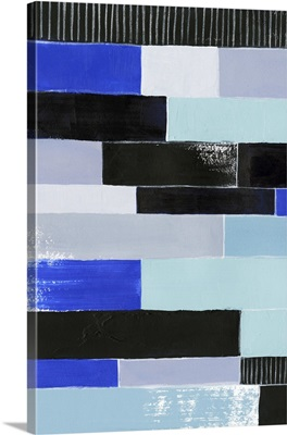 Black and Blue Bricks I