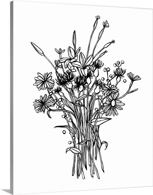 Black & White Bouquet I