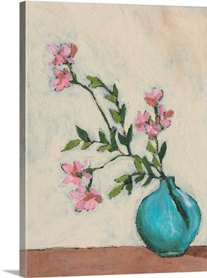 Blossom In Blue Vase I