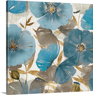 Blue and Gold Poppies II