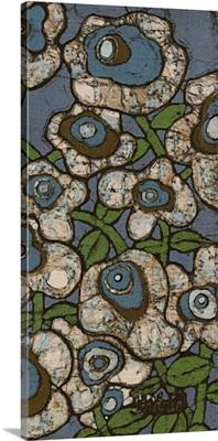 Blue Batik Flowers II