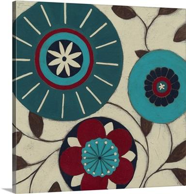 Blue Blossom Fresco I