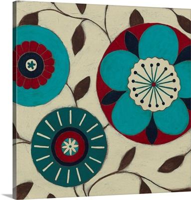 Blue Blossom Fresco II