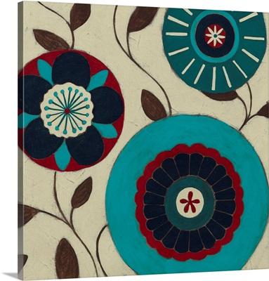 Blue Blossom Fresco III