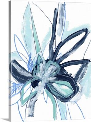 Blue Floral Burst I
