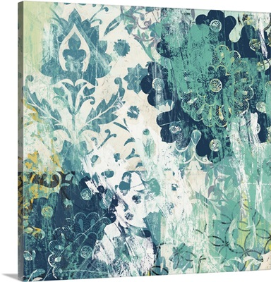 Blue Floral Layers I