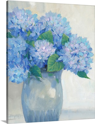 Blue Hydrangeas In Vase I