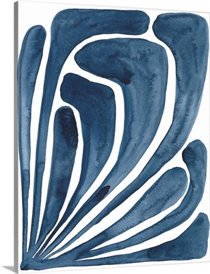 Blue Stylized Leaf II