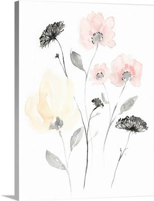 Blush & Black Wildflowers II