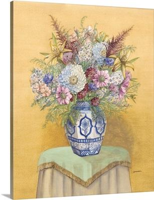 Bouquet in Asian Vase I