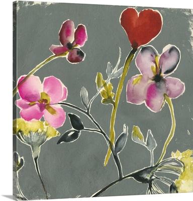 Bouquet on Grey I