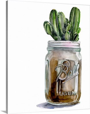 Cactus Mason Jar I