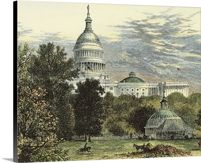 Capitol From the Botanical Gardens