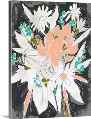 Charcoal Bouquet I