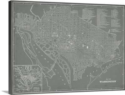 City Map of Washington, DC