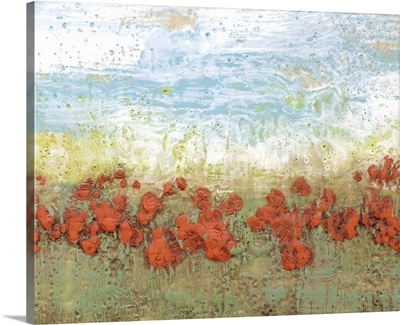 Coral Poppies I