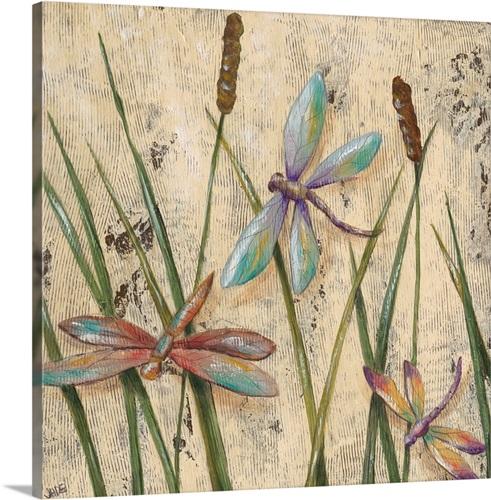 Dancing Dragonflies I Canvas