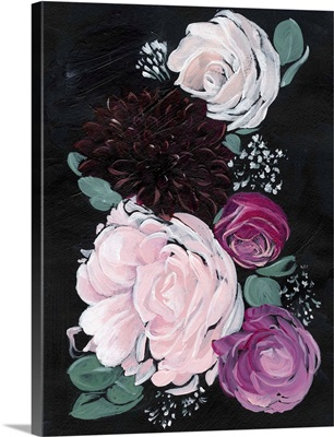 Dark and Dreamy Floral I