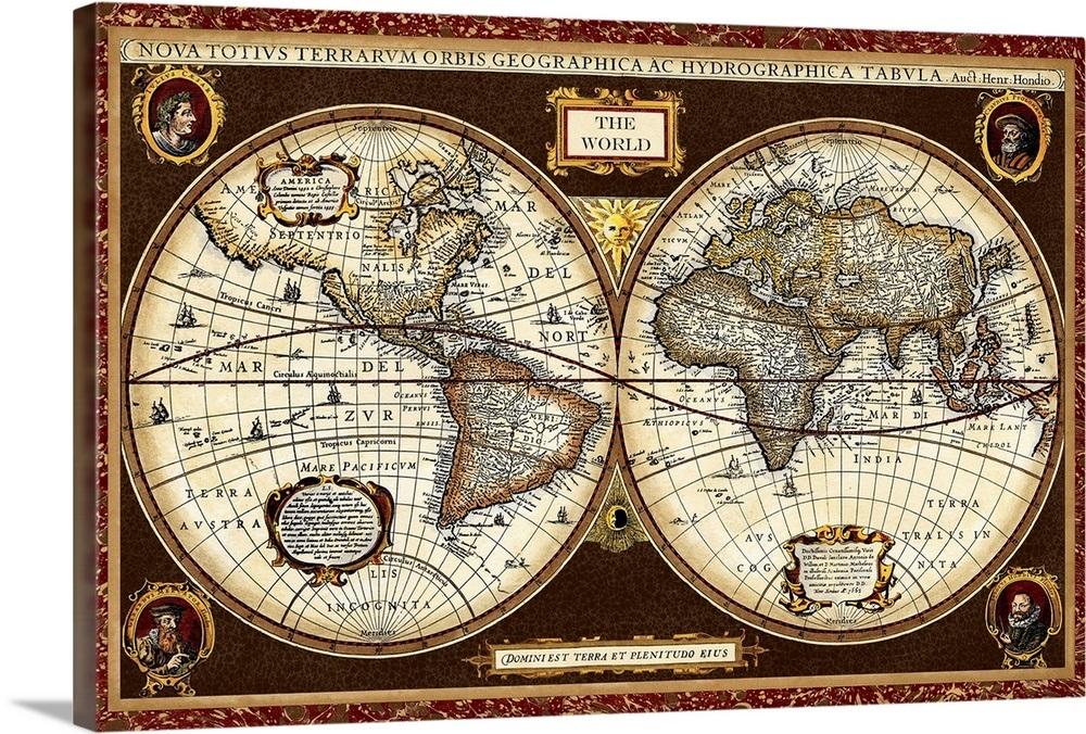 Decorative World Map Wall Art Canvas Prints Framed Prints Wall