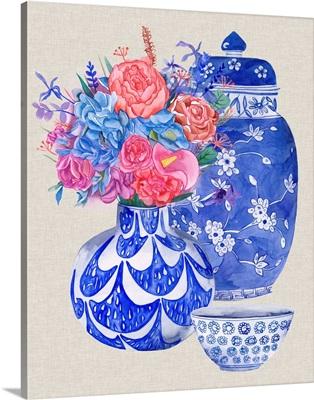 Delft Blue Vases I