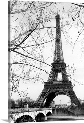 Eiffel Tower Along The Seine River