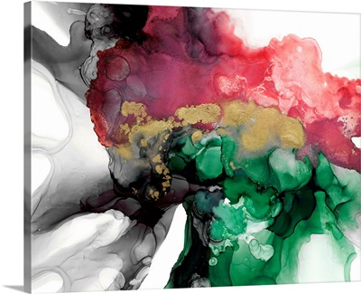 Emerald & Coral Expression I