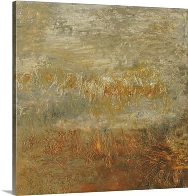 Encaustic Tile In Orange III