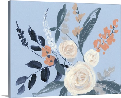Eucalyptus Bouquet on Blue I