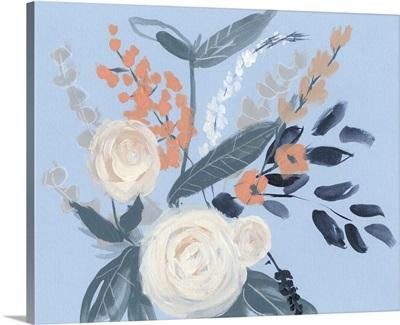 Eucalyptus Bouquet on Blue II