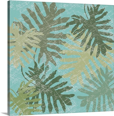 Faded Tropical Leaves I