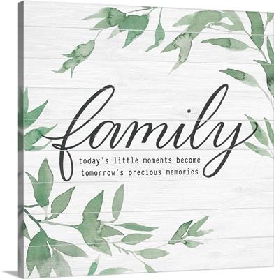 Family on Shiplap I