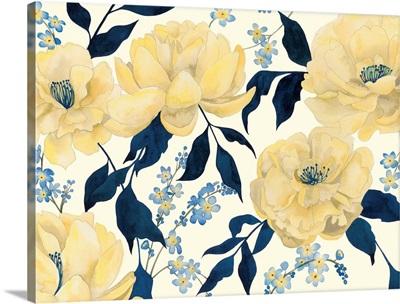 Fleurs D'or et Bleu II