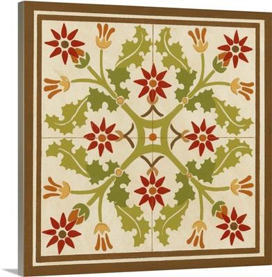 Floral Folk Tile IV