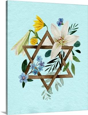 Floral Hanukkah I