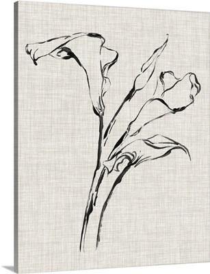Floral Ink Study IV