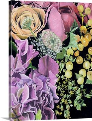 Floral on Black III