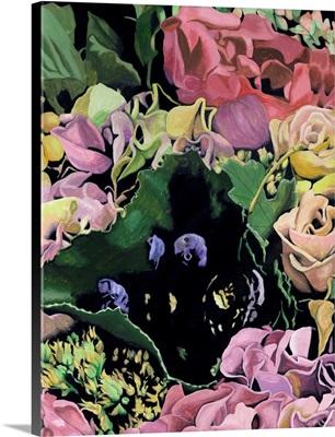 Floral on Black IV