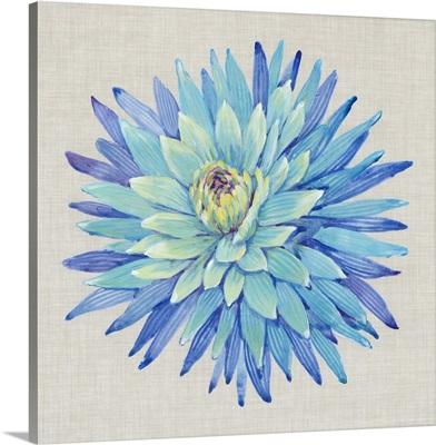 Floral Portrait on Linen I