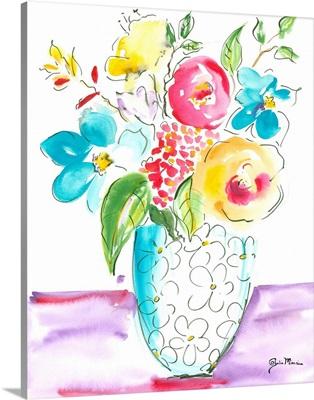 Flower Burst Vase I