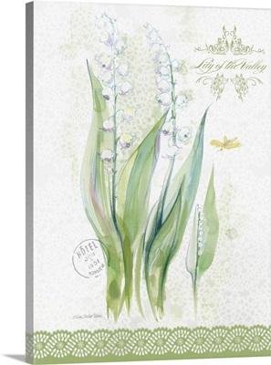 Flower Study on Lace IX