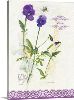 Flower Study on Lace XIV
