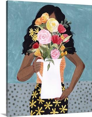 Flower Vase Girl I