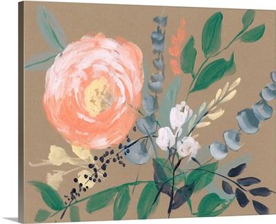 Flowers on Mocha II