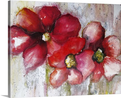 Fuchsia Poppies I