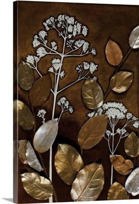 Gilded Leaf Collage II