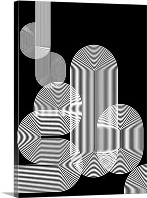Graphic Black Shapes I