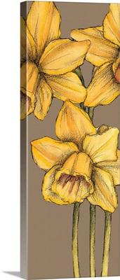 Graphic Flower Panel IV
